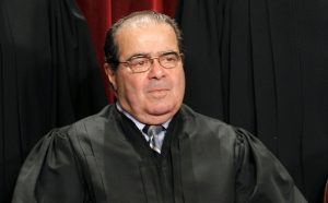 Justice Antonin Scalia, the chapmion of pro-life, who sought to overturn Roe vs. Wade. Trump has promised to appoint judges just like him.